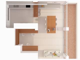 Cocinas de estilo minimalista de A2 arquitectura interior Minimalista