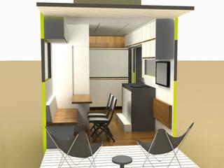 Salas de estilo minimalista de A2 arquitectura interior Minimalista