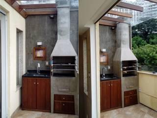 churrasqueira: Terraços  por Margareth Salles,Moderno Concreto