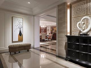 慢品美式古典精萃 經典風格的走廊,走廊和樓梯 根據 漢品室內設計 古典風