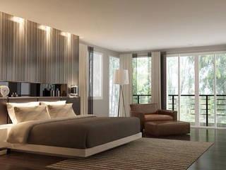 ผลงานออกแบบห้องนอน:  ตกแต่งภายใน by บริษัท ซี.เอส.เอ็น.อินเตอร์เนชั่นแนล จำกัด