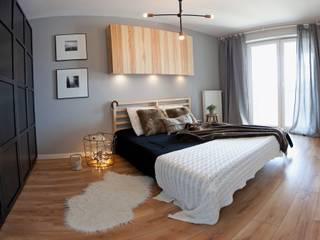 Scandinavian style bedroom by Goryjewska.Górnisiewicz Scandinavian Wood Wood effect