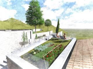 Ampliamento in legno ad alto risparmio energetico con tetto giardino: Case in stile  di STUDIOM+ ARCHITETTURA