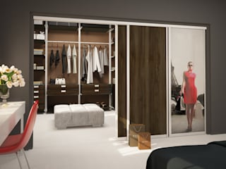 Komandor - Wnętrza z charakterem Dressing roomWardrobes & drawers Chipboard Wood effect