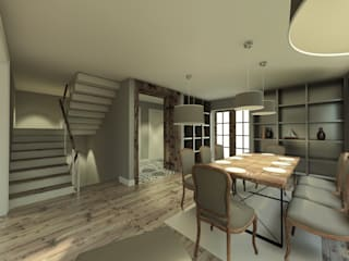 Country style dining room by CY MİMARLIK Country