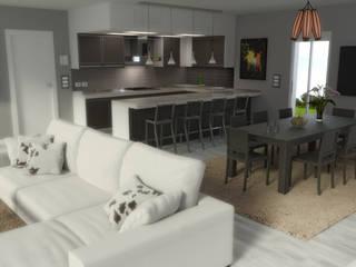 salotto B/W Soggiorno moderno di virtual3dproject Moderno
