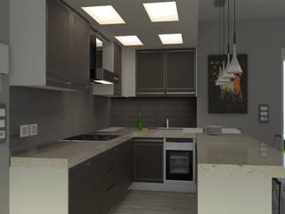 salotto B/W Cucina moderna di virtual3dproject Moderno
