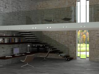 un sottoscala alternativo e funzionale Studio moderno di virtual3dproject Moderno