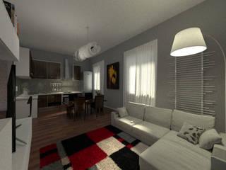 piccolo appartamento, grande potenziale Soggiorno moderno di virtual3dproject Moderno
