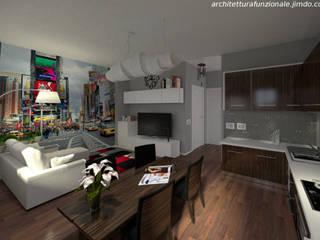 profondità virtuale: Soggiorno in stile in stile Moderno di virtual3dproject