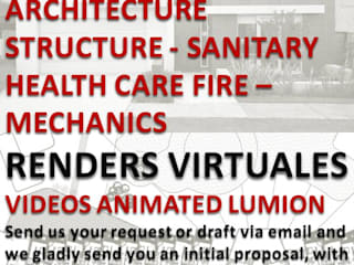 DIBUJO DE PLANOS 40 $ DELINEANTES ARQUITECTO DISEÑOS PROYECTOS RENDERS FOTO-REALISMO EN 100 $ VIDEOS RECORRIDOS VIRTUALES ANIMADOS EN 400 $. LUMION Anexos de estilo moderno de Espacio 1 Arquitectura c.a. Moderno