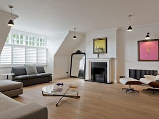 Hampstead Penthouse Minimalist living room by DDWH Architects Minimalist