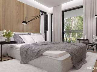 DOM POKAZOWY modern Nowoczesna sypialnia od Gradomska Architekci - Interiors Nowoczesny