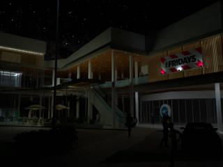 VISTA NOCTURNA: Espacios comerciales de estilo  por Gen Arquitectura & Diseño