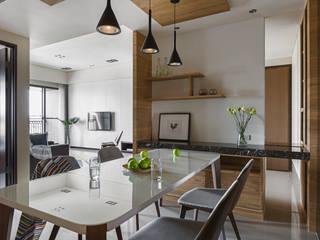 姊妹倆的陽光居所:  餐廳 by 賀澤室內設計 HOZO_interior_design