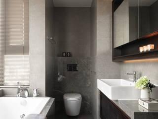 都峰苑張宅 現代浴室設計點子、靈感&圖片 根據 大觀室內設計工程有限公司 現代風