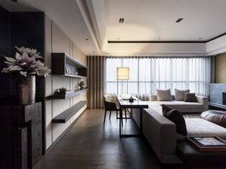 雙水灣:  書房/辦公室 by 大觀室內設計工程有限公司