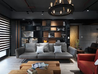 Industrial style living room by 星葉室內裝修有限公司 Industrial