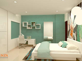 Daughter's Bedroom Modern style bedroom by Kredenza Interior Studios Modern