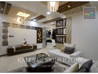 Home interior design for Reshma Modern living room by KAM'S DESIGNER ZONE Modern