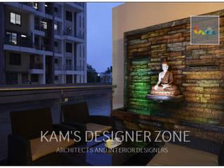 Home interior design for Reshma Modern balcony, veranda & terrace by KAM'S DESIGNER ZONE Modern