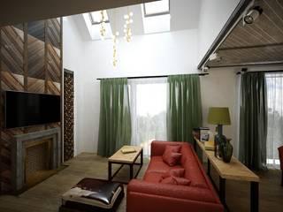 Анастасия Муравьева — проект для дома ТехноНИКОЛЬ: Гостиная в . Автор – Open Village