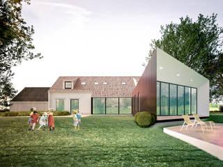 verbouwing en uitbreiding van bestaande eengezinswoning Landelijke huizen van A2S ARCHITECTEN Landelijk