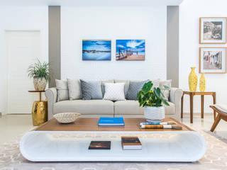 Rita Albuquerque Arquitetura e Interiores Salas de estilo moderno Beige