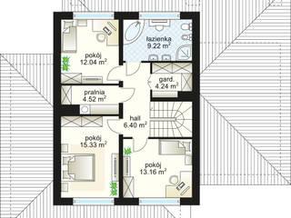 Verona - rzut piętra: styl , w kategorii  zaprojektowany przez Domowe Klimaty J. Charkiewicz