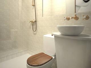 Grupo Inventia Baños de estilo clásico Azulejos Blanco