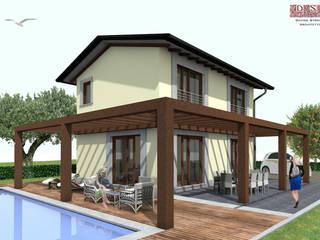 Progetto preliminare per villetta singola zona Versilia (LU): Case in stile in stile Mediterraneo di davide strambi architetto