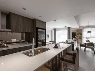 에클레틱 주방 by 賀澤室內設計 HOZO_interior_design 에클레틱 (Eclectic)