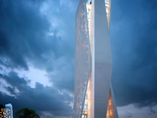 Torre C.corp: Oficinas y tiendas de estilo  por ARQ. ERICK OCHOA