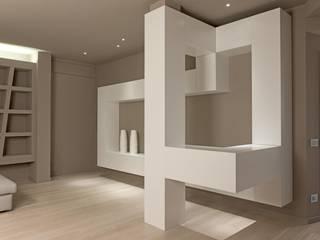 Luca Doveri Architetto - Studio di Architettura Living roomTV stands & cabinets White