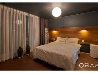 사당동 우성아파트 2차 / 35평형 아파트 인테리어 모던스타일 침실 by 오락디자인 모던