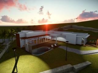 Casa 1: Piscinas  por Numen - Arquitetura e Urbanismo,Moderno