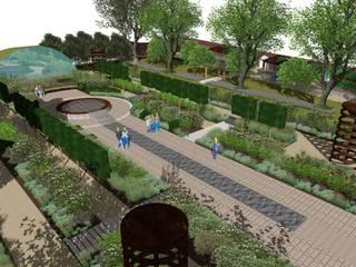 Mottisfont Abbey National Trust Walled Garden by Aralia Сучасний