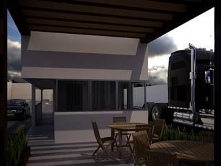 H+R ARQUITECTOS Moderner Balkon, Veranda & Terrasse