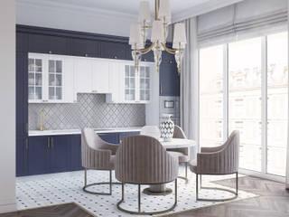 Современная классика в доме на котельнической Кухня в классическом стиле от Romanoff and Wood Классический