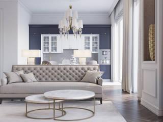 Современная классика в доме на котельнической Гостиная в классическом стиле от Romanoff and Wood Классический