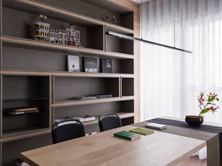Study/office by 賀澤室內設計 HOZO_interior_design, Eclectic