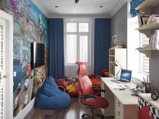 КЕМБРИДЖ, 165 КВ.М., АМПИР: Детские комнаты в . Автор – Loft&Home