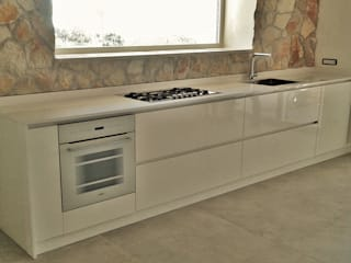 FIDEA SRL Minimalist kitchen Solid Wood White