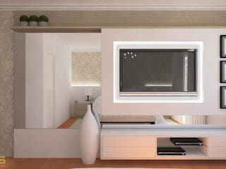 Dormitório Casal - Projeto: Quartos  por DECORUS móveis sob medida,Moderno