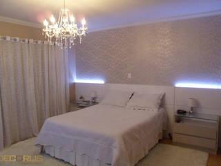 Dormitório Casal - Executado:   por DECORUS móveis sob medida,Moderno