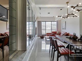 流光流影.北投藏寶 DYD INTERIOR大漾帝國際室內裝修有限公司 现代客厅設計點子、靈感 & 圖片
