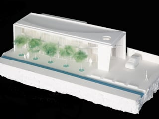 山形県税理士会/Along the canal: 空間芸術研究所/vectorfield architectsが手掛けたオフィスビルです。,モダン