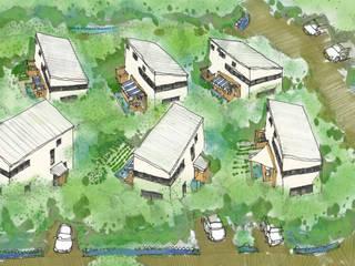那須高原コミュニティーヴィレッジ 日本家屋・アジアの家 の 羽鳥建築設計室 和風