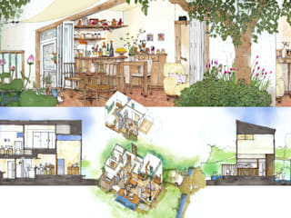那須高原コミュニティーヴィレッジ 和風デザインの リビング の 羽鳥建築設計室 和風