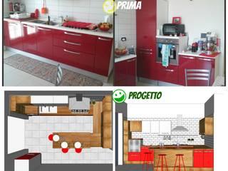 Rinnovare la cucina senza cambiarla.: Cucina in stile in stile Minimalista di T.A. arredo_arredamento su misura